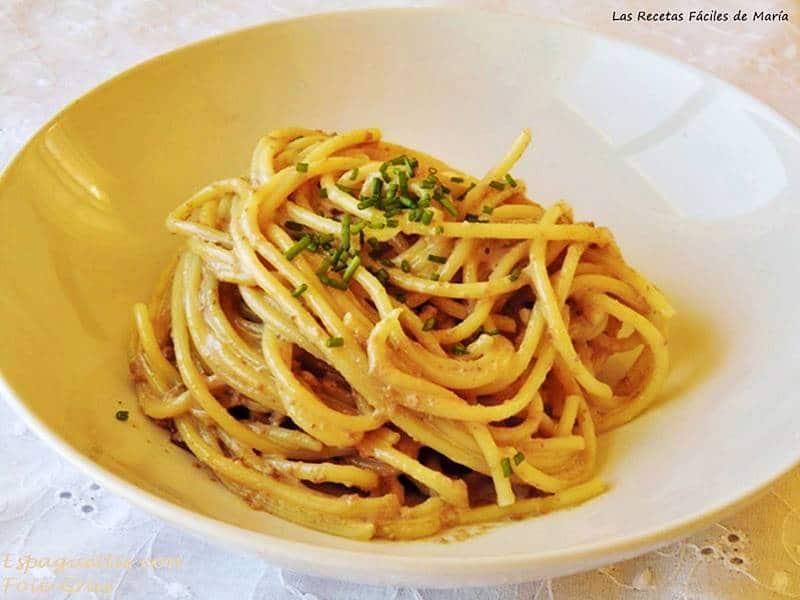Espaguetis con Foie-Gras