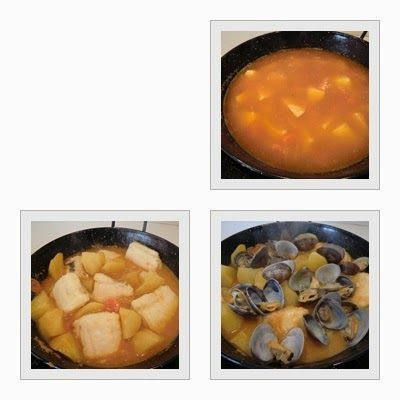 Guiso de Merluza con Patatas paso 3