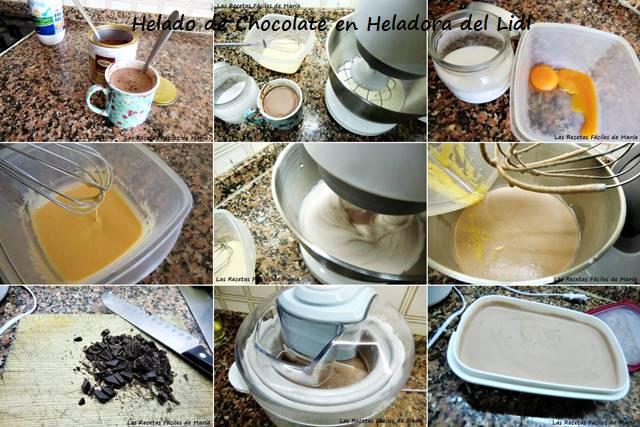 Helado de Chocolate en Heladera del Lild receta paso a paso