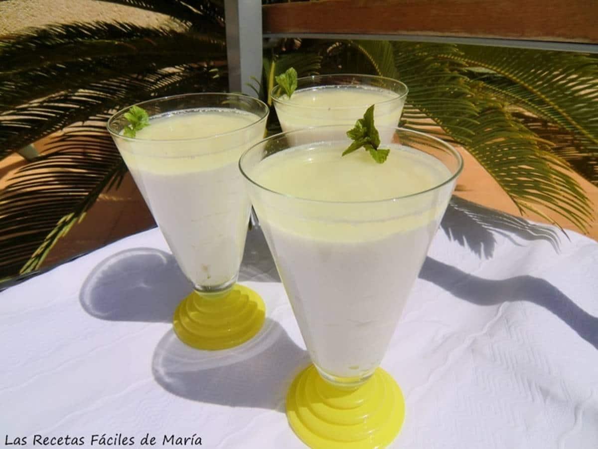 Mousse de Lima con Requesón receta de postre