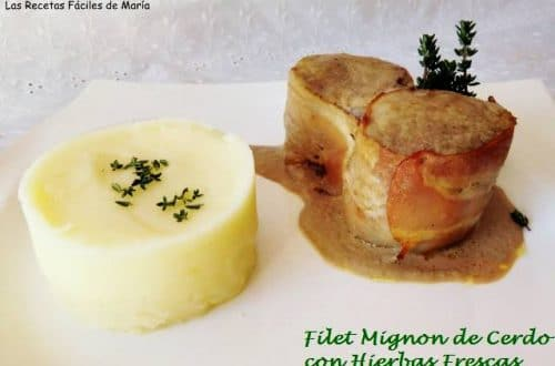 Filet Mignon de cerdo con hierbas frescas (cómo se hace)