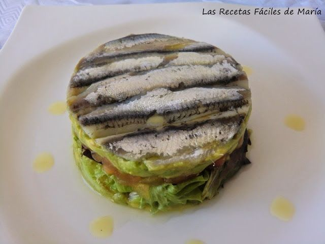 Las recetas f ciles de mar aboquerones con aguacate en - Calorias boquerones en vinagre ...