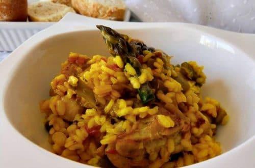 receta de conejo con arroz meloso