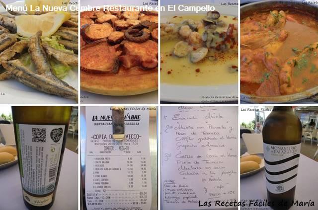 La Nueva Cumbre Restaurante menú