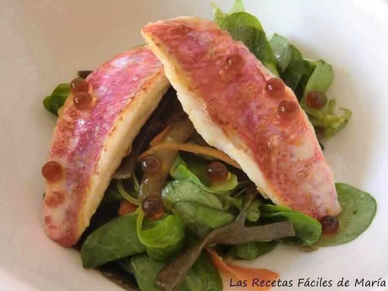 Espagueti de Mar con Salmonetes
