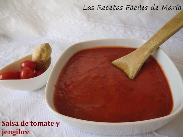 Salsa de tomate y jengibre