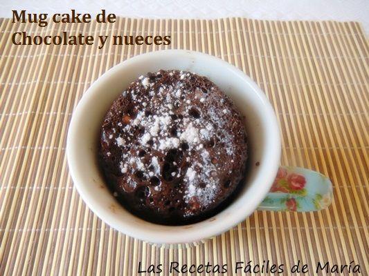Cómo preparar un Mug cake de Chocolate y nueces en dos minutos