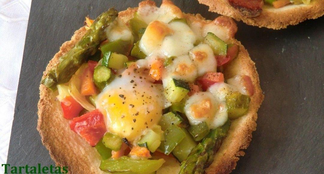 receta tartaletas variadas de verduras