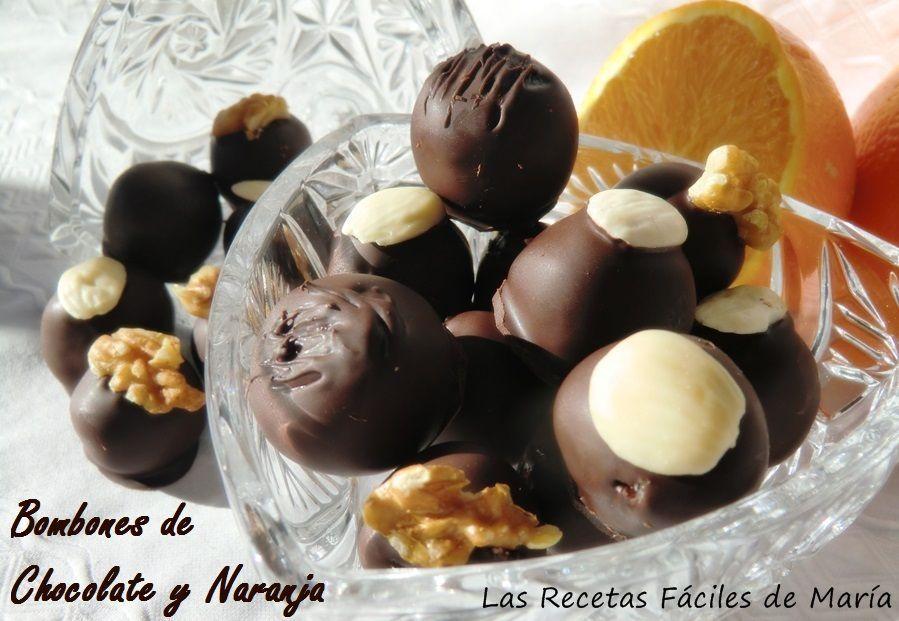como se hacen bombones de chocolate y naranja