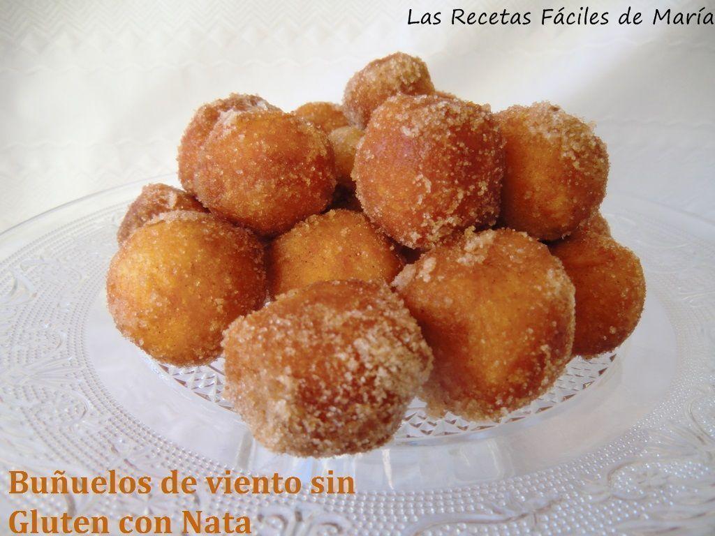 Buñuelos de Viento sin gluten rellenos de nata