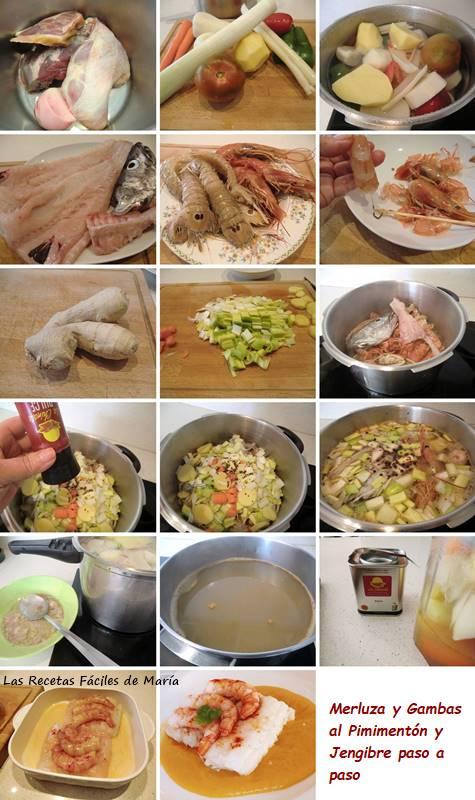 merluza al pimentón y jengibre receta paso a paso