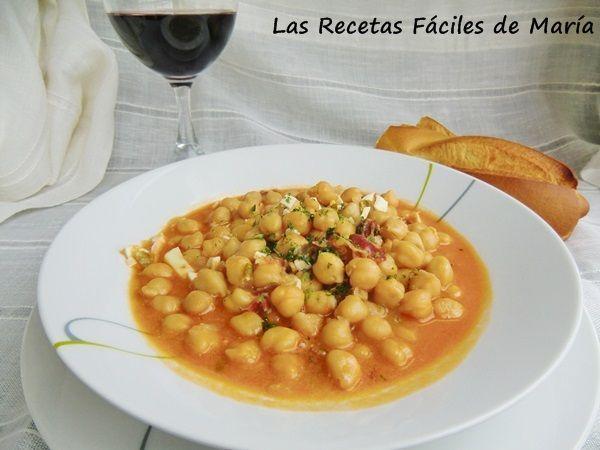 receta potaje garbanzos con jamón ibérico