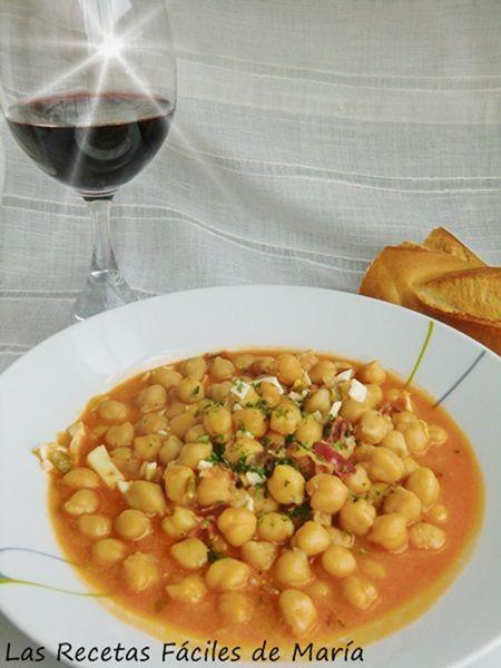 Potaje de Garbanzos con Jamón Ibérico receta fácil