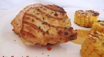 Atún Marinado con Pimiento Africano y Maiz receta sin gluten