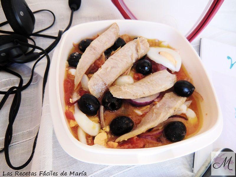Ensalada Gourmet Ensalada Murciana o Mojete Murciano en Tupper Las Recetas Fáciles de María