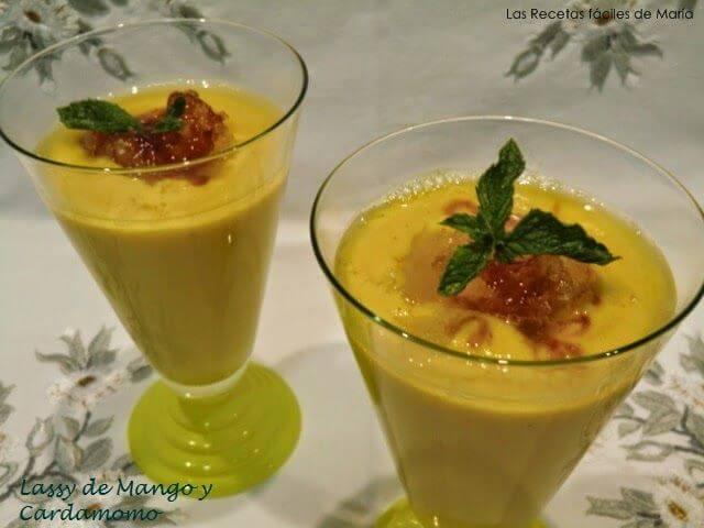 Lassi de Mango y Cardamomo, Bebida India Las Recetas Fáciles de María