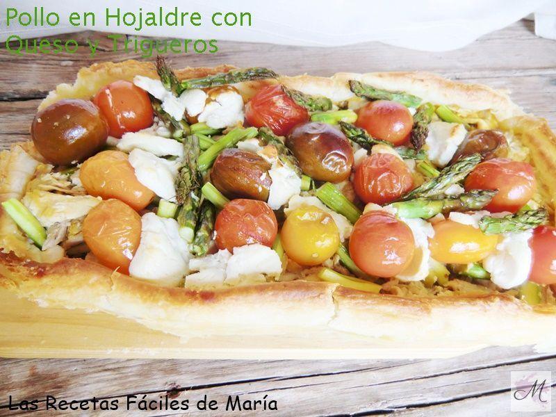 receta pollo en hojaldre con queso y trigueros ecológicos, nutrición