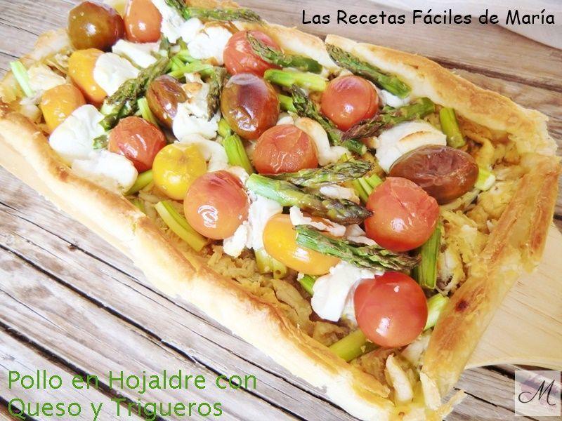 Pollo en Hojaldre con Queso y Trigueros receta