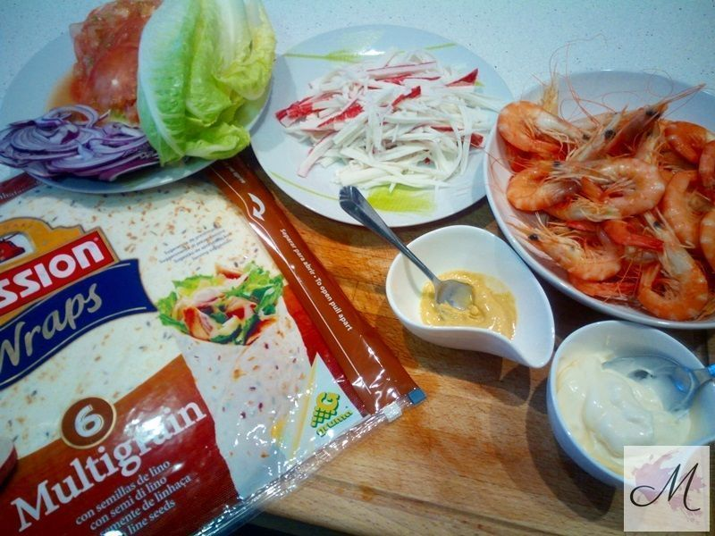wraps marinero ingredientes para rellenar