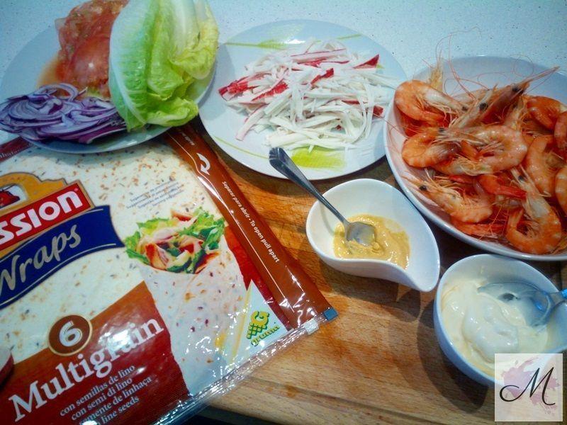 wraps marinero ingredientes para rellenar