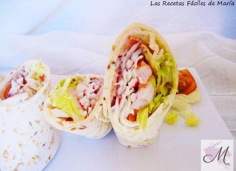 Wraps Marinero sano y rápido receta