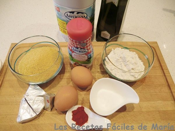 bocaditos de pasta con nata ingredientes