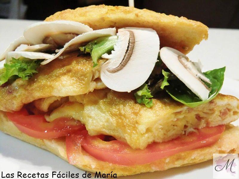 receta Bocata de Tortilla de Jamón 5 Estrellas Insuperable