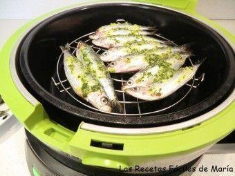 sardinas de santa pola sin olor ni humos en cecofry freidora dietetica