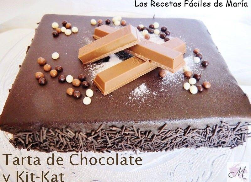 receta para niños tarta de chocolate y kitkat sin gluten