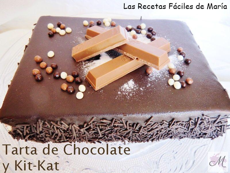 Tarta De Chocolate Y Kitkat Sin Gluten Las Recetas Faciles De Maria - Como-decorar-una-tarta-de-cumpleaos-para-nios