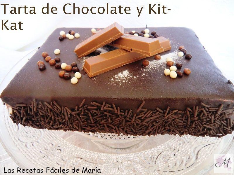 receta Tarta de Chocolate y Kitkat sin Gluten Las Recetas Fáciles de María