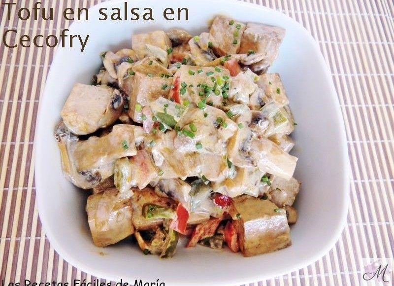 receta tofu en salsa en Cecofry