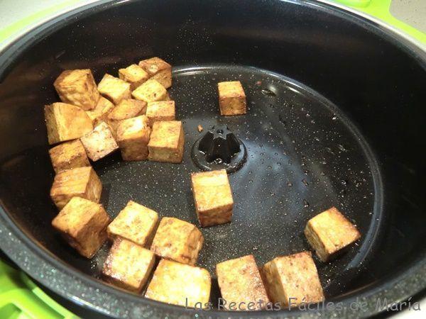 dorar el tofu en cecofry