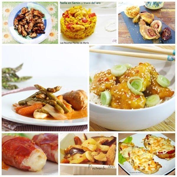 8 Recetas de Pollo diferentes para cada día recopilación