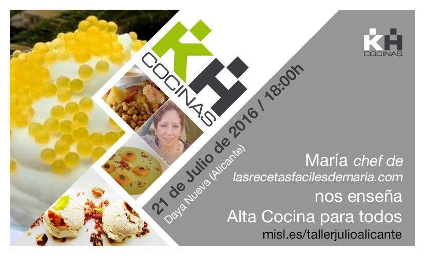 MasterClass Aprende con María alta cocina para todos
