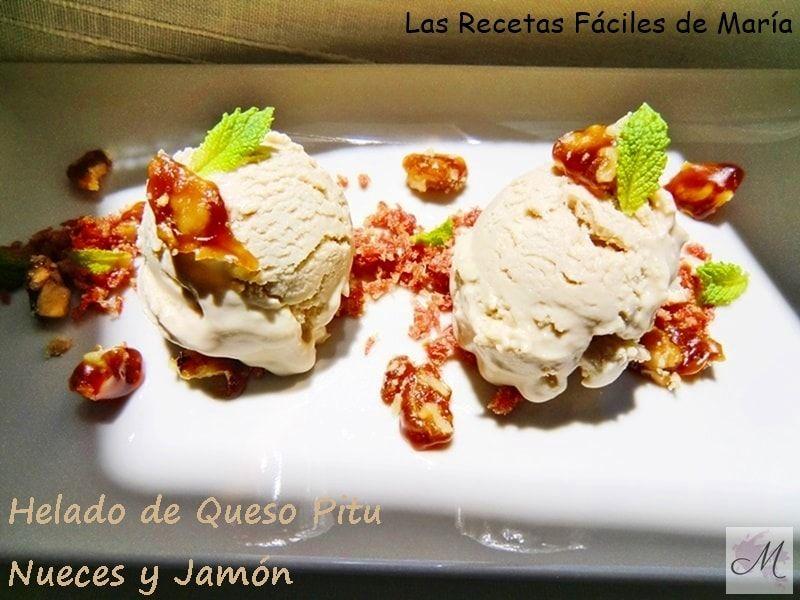 Helado de Queso Pitu con Nueces y Jamón sin Gluten