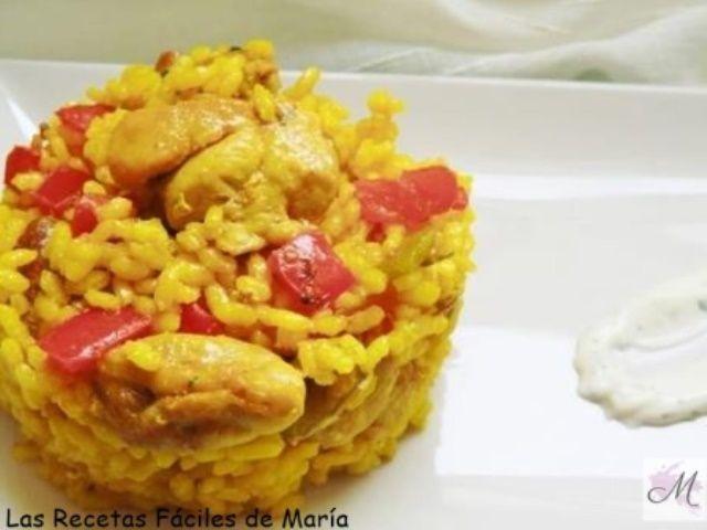 receta paella de pollo en sartén y truco del aro
