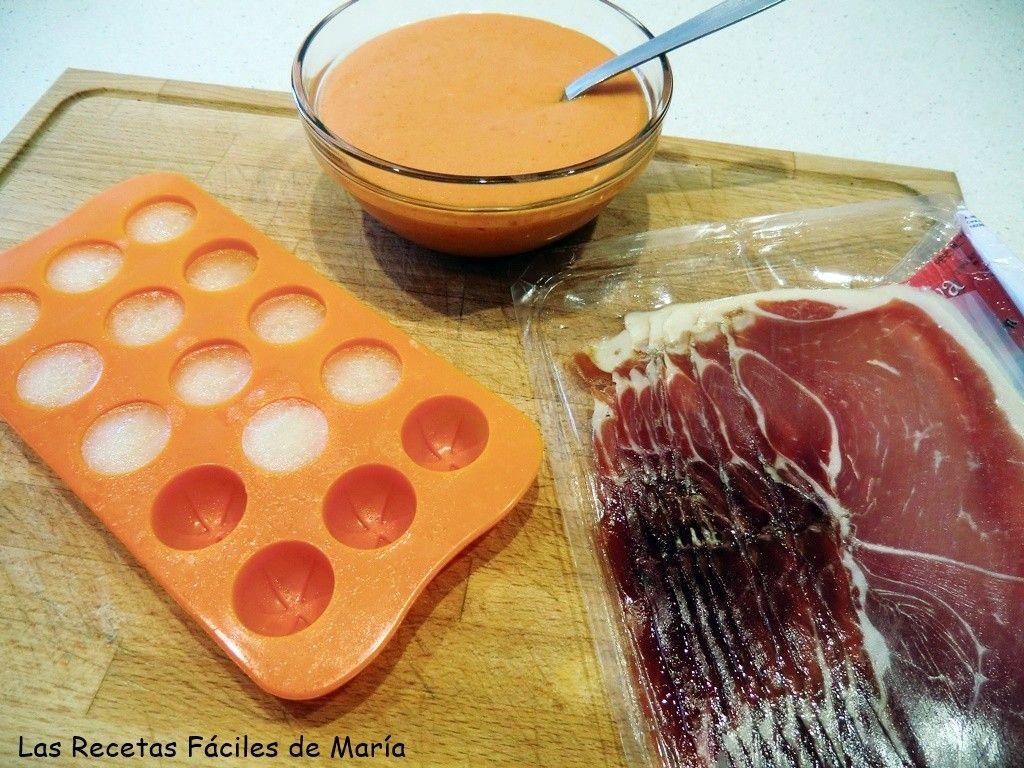 ingredientes Salmorejo con gelée de melón