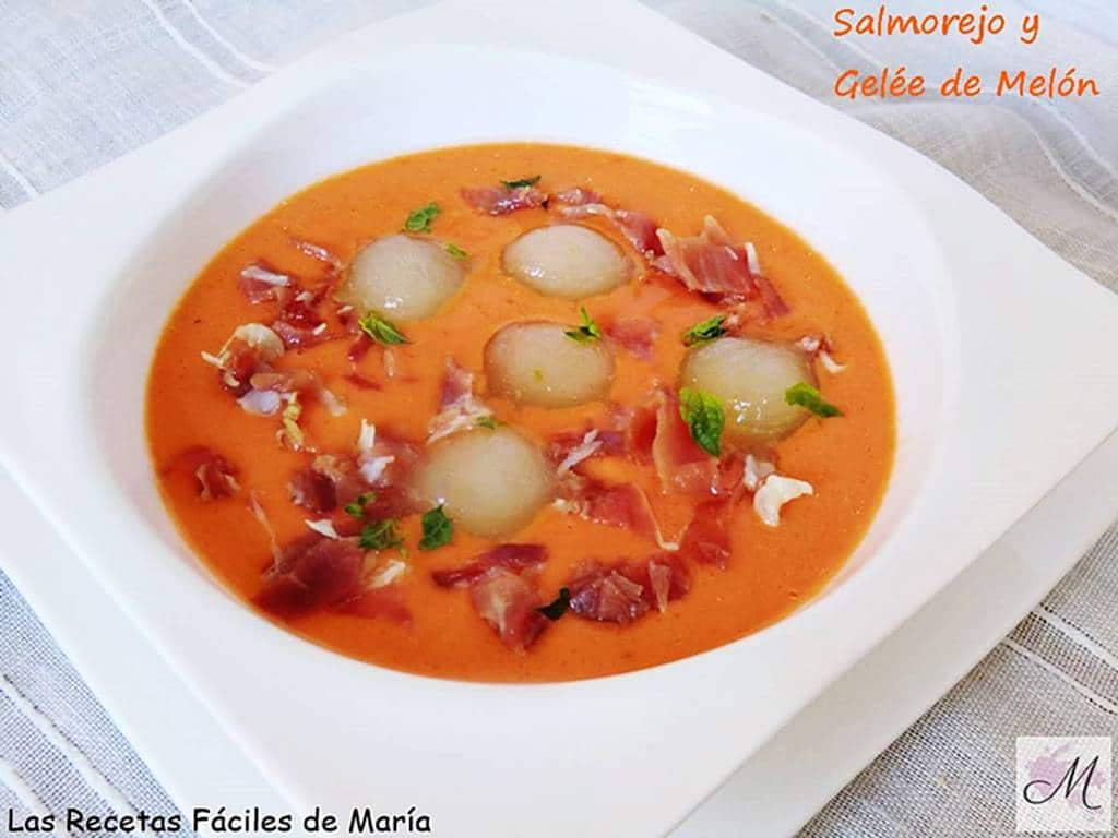 receta Salmorejo con Gelée de Melón sin gluten