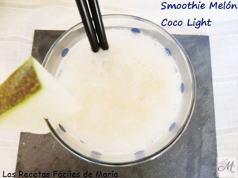 receta Smoothie de melón y coco light