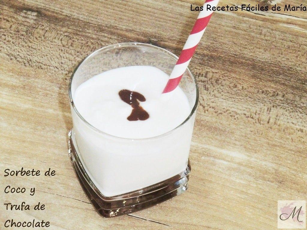 Sorbete de Coco con Trufa de Chocolate by Santi Santamaria