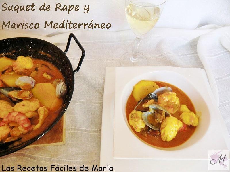 Suquet de Rape y marisco Mediterráneo receta