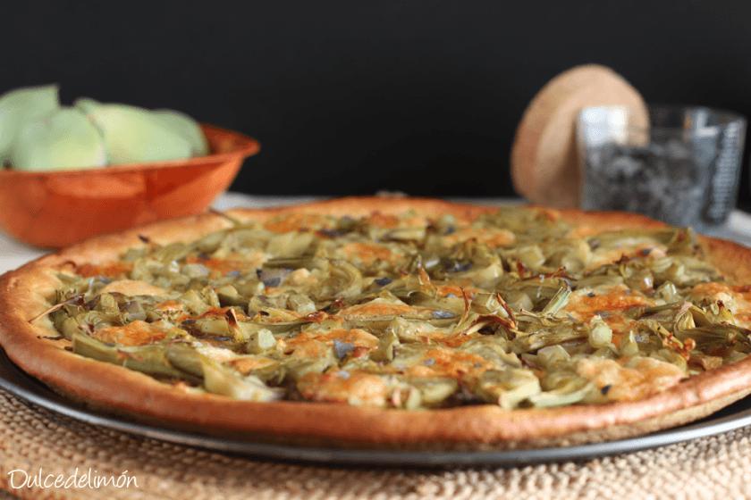 receta coca-de-alcachofas-berenjena-y-brie-8 recetas con queso saladas y dulces