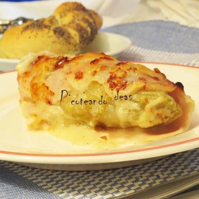 receta endivias gratinadas al roquefort-8 recetas con queso saladas y dulces