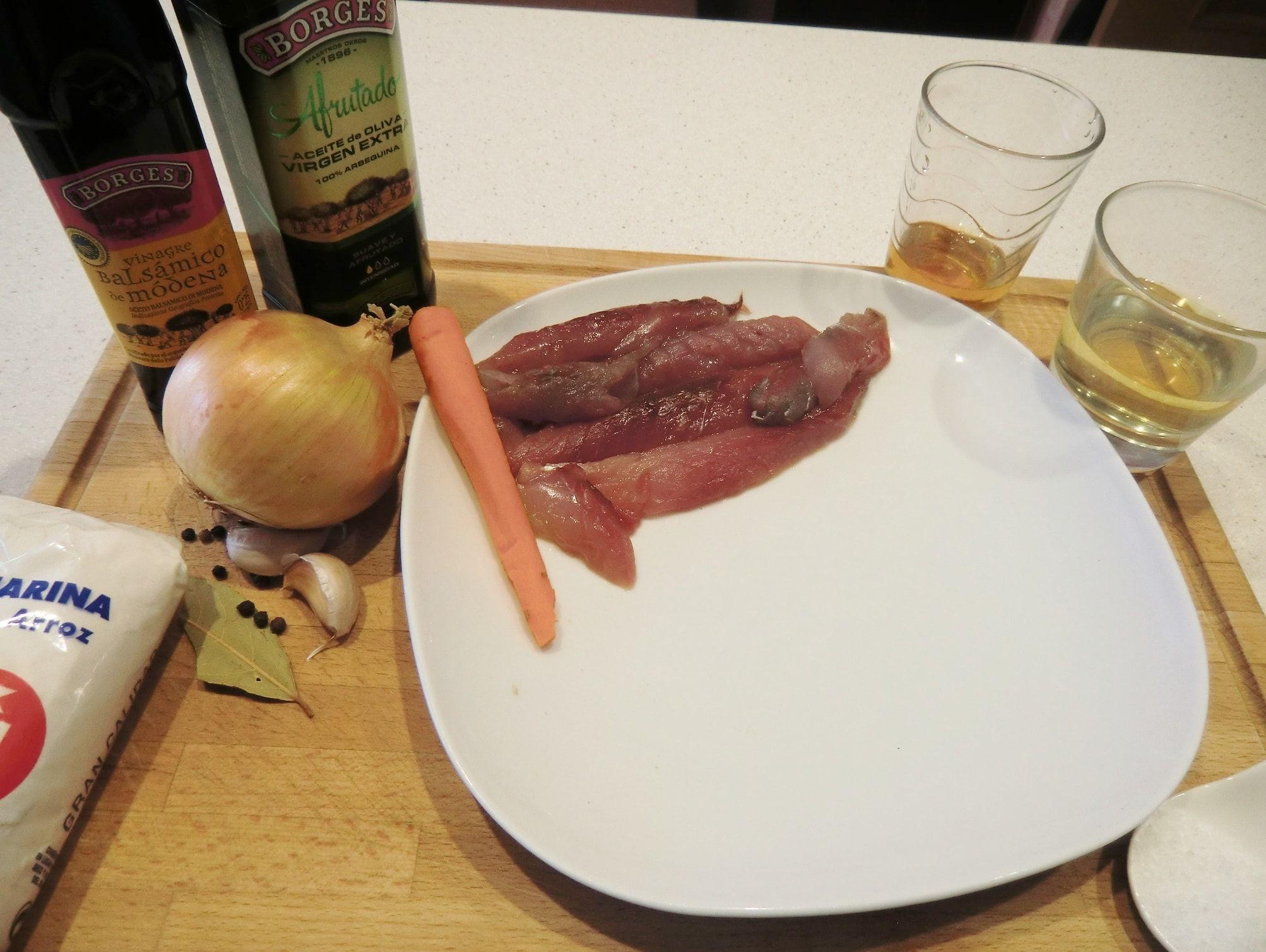 ingredientes Estornino en escabeche de Módena