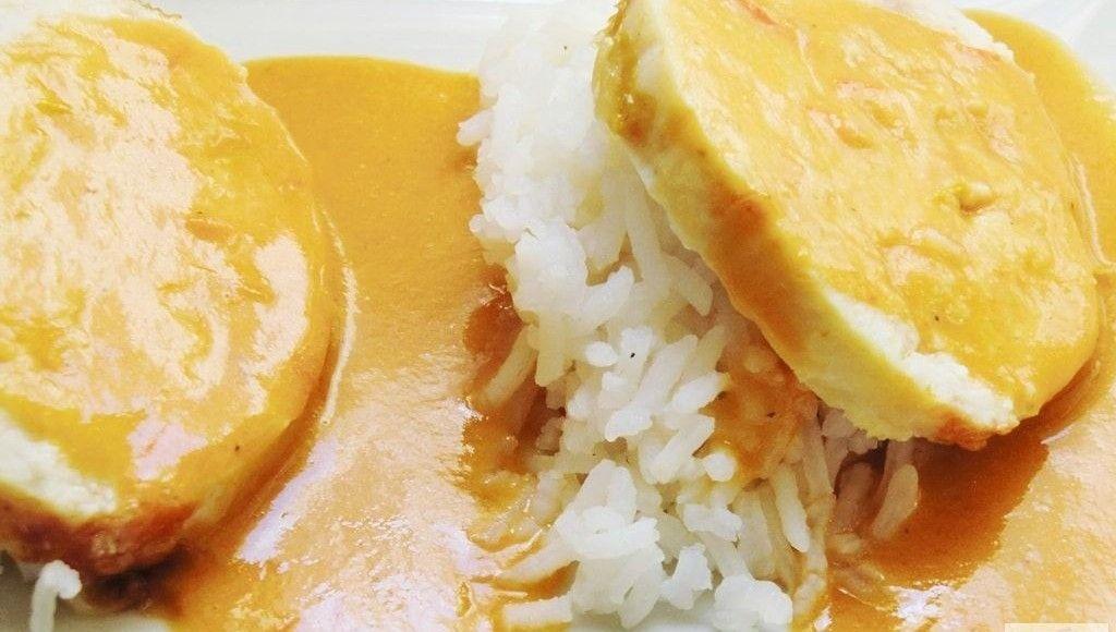 receta Roti de Pollo en Salsa de Curry Rojo