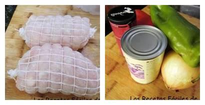 ingredientes para el roti de pollo al curry rojo