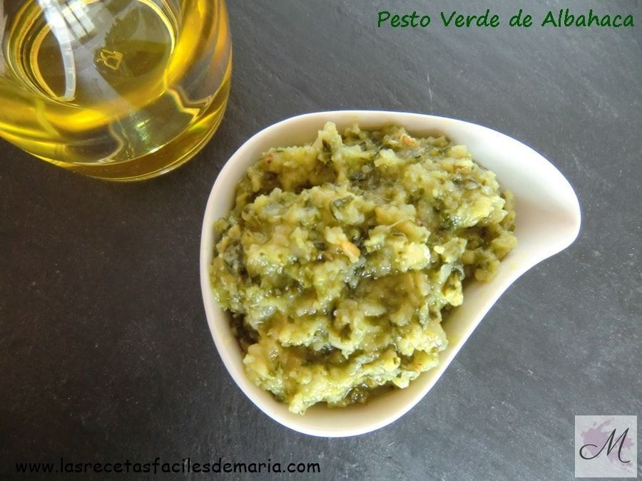 Salsa Pesto de Albahaca para Tatine de de Jamón queso rulo y canónigos con pesto