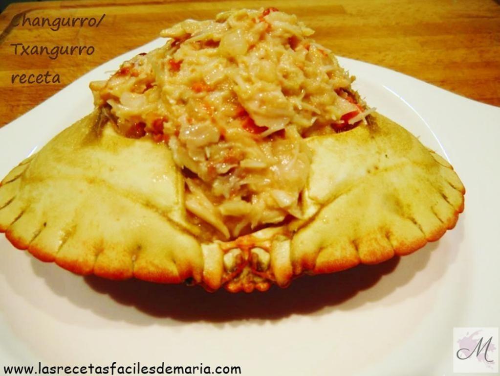 receta de changurro o txangurro frío con buey de mar