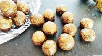 receta Bombones-dorados-de-Chocolate-con-Avellanas